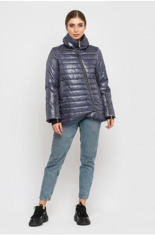 глянцевая женская куртка KTL-387 цвета графит (701)